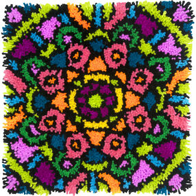 Colorful Mandala, Latch Hook, 72-75000