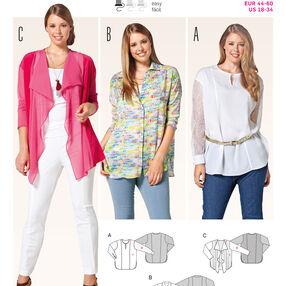 Burda Style Pattern 6787 Plus to size 60 (34)