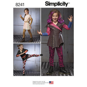 Simplicity Pattern 8241 Child's Warrior Costumes