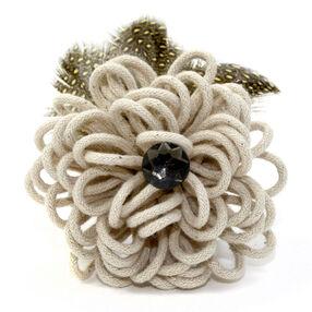 Yarn Blossom Pin & Clip Flower_56-63059