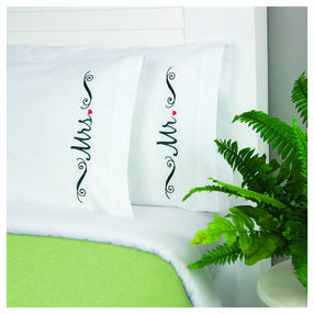 Mr. & Mrs. Pillow Cases, Embroidery_72-74129