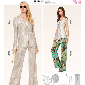 Burda Style Pattern 6774 Coordinates, Pantsuits, Suits