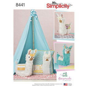 Pattern 8441 Stuffed Animals and Pillow