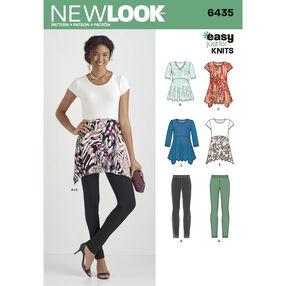 Pattern 6435 Misses' Knit Leggings and Tunics