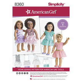 "Simplicity Pattern 8360 18"" American Girl Doll Clothes"