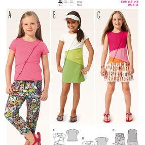 Burda Style Pattern 9391 Children'sShirt and  Dress