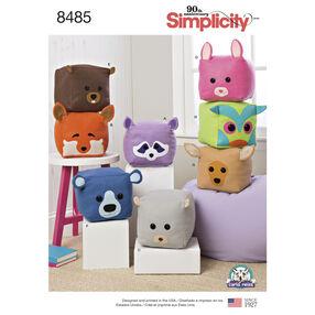 Simplicity Pattern 8485 Stuffed Cube Animals