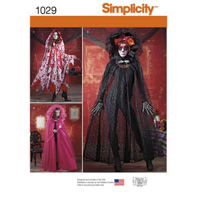 Simplicity Pattern 1029 Misses' Cape Costumes