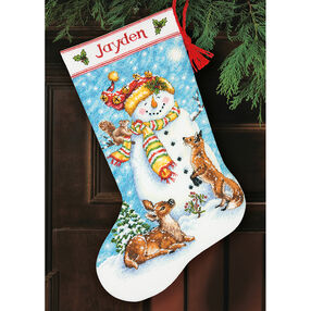 Winter Friends Stocking, Counted Cross Stitch_70-08963