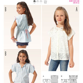 Burda Style Pattern 9392 Children's Blouse