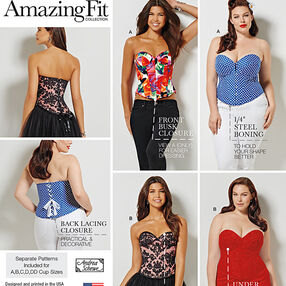 Misses' and Plus Size Corsets