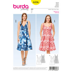 Burda Style Pattern B6536 Misses' High Waist  Dress