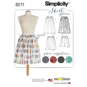 Pattern 8211 Misses' Dirndl Skirts in Three Lengths