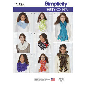Simplicity Pattern 1235 Assorted Scarves
