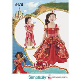 Simplicity Pattern 8479 Disney Elena of Avalor Child's Costume