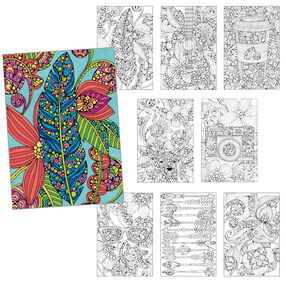 Hipster Set of 8, Pencil Coloring_73-91513