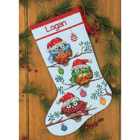 Holiday Hooties Stocking, Counted Cross Stitch_70-08951