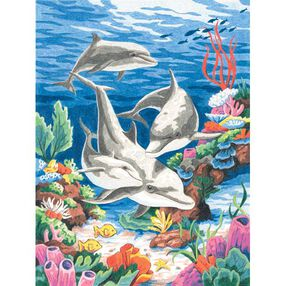 Dolphins in the Sea, Pencil by Number_91112