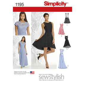 Simplicity Pattern 1195 Misses and Miss Petite Special Occasion Dress