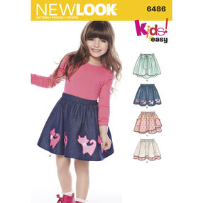 New Look Pattern 6486 Children's Easy Skirts