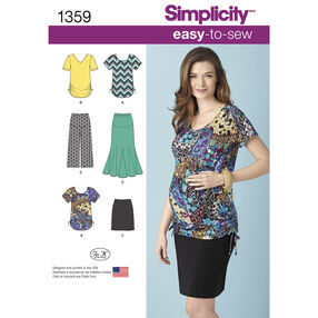 Misses' Maternity Knit Skirts, Gaucho Pants & Tops