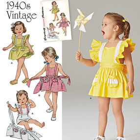 Pattern 8099 Toddlers' Romper and Button-on skirt
