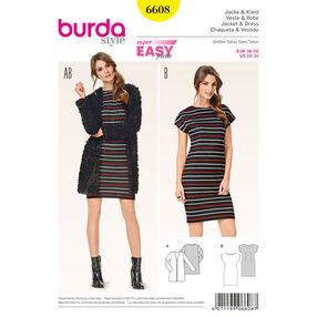 Burda Style Pattern 6608 Jacket and Dress
