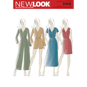 New Look Pattern 6468 Misses' Jumpsuit and Dress in Two Lengths