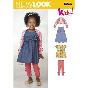 Toddlers' Dress, Top, Leggings and Bolero