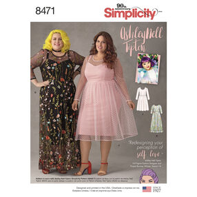 Simplicity Pattern 8471 Ashley Nell Tipton Women's Dresses
