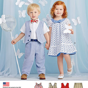 Toddlers' Pants, Vest, Dress, Bow-Tie and Belt