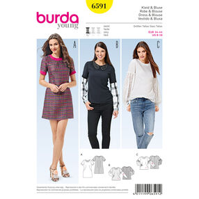 Burda Style Pattern 6591 Dress and Blouse