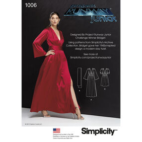 Simplicity Pattern 1006 Misses' Dresses in Two Lengths and Sash