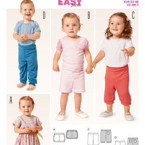Burda Style Pattern 9386 Toddlers' Pants