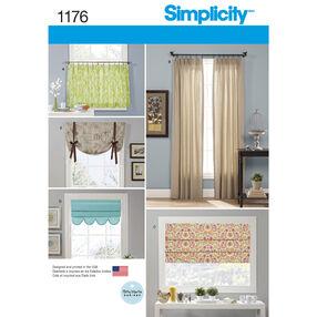 Simplicity Pattern 1176 Window Treatments