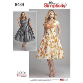 Pattern 8439 Misses'/Women's Dress with Bodice Variations
