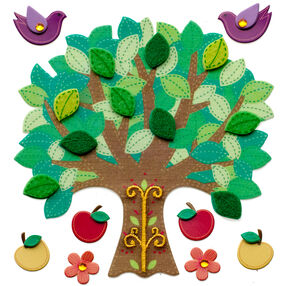 Colorful Stitched Tree Stickers_50-21297
