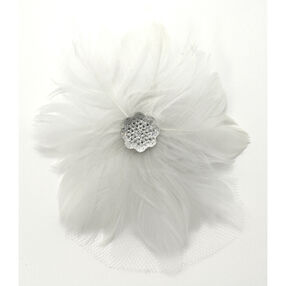 Feather Pearl Blossom Pin & Clip Flower_56-63024