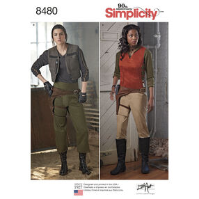 Simplicity Pattern 8480 Misses' Costumes