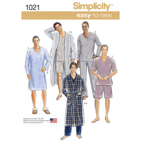 Simplicity Pattern 1021 Men's Classic Pajamas & Robe