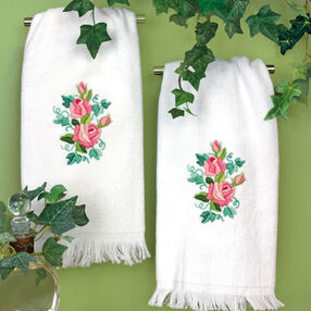 Roses and Ivy Guest Towels, Embroidery_72-73702