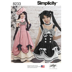 Simplicity Pattern 8233 Misses' Cosplay Costumes