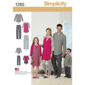 Simplicity Pattern 1285 Family Loungewear
