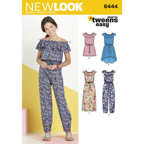Pattern 6444 Girl's Dress and Jumpsuit in Two Lengths