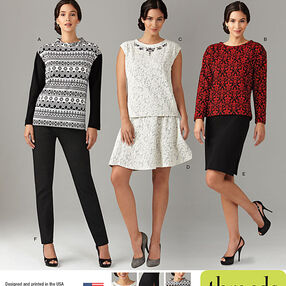 Misses' and Miss Plus Knit Tops, Pants and Skirts