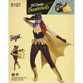 Pattern 8197 D.C. Comics Bombshells Bat Girl Costume