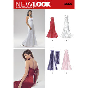 New Look Pattern 6454 Misses Special Occasion Dresses