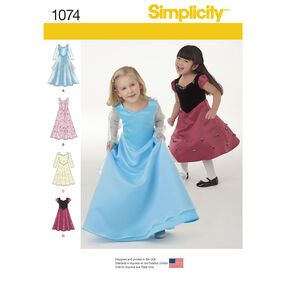 Simplicity Pattern 1074 Toddlers' and Child's Dress in Two Lengths