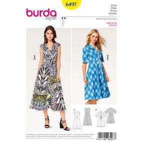 Burda Style Pattern B6497 Misses' V-Neck Dress