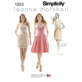 Simplicity Pattern 1353 Misses' Dresses Leanne Marshall Collection